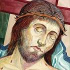 Križani – akvarel na papirju, 22x17 cm, 1999
