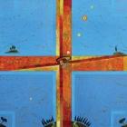 Križna kompozicija – akril in kolaž na platnu, 60x60 cm, 2006