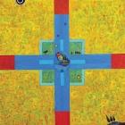 Aleluja - Križna kompozicija – akril in kolaž na platnu, 60x60 cm, 2006