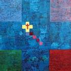 Križna kompozicija – akril in kolaž na lesu, 25x25 cm, 2008 - 2009