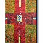 Križ, akril na platno, 24x18x4 cm, 2012