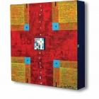 Križ – akril na platno, 20x20x4 cm, 2012