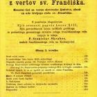 Platnice revije Cvetje z vertov sv. Frančiška